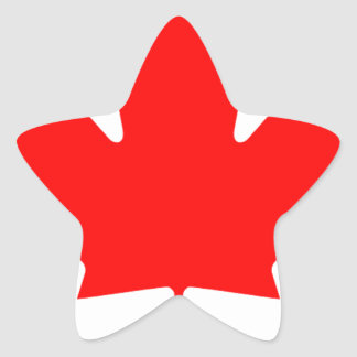 Flag of Canada - Drapeau du Canada Star Sticker