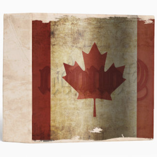 Flag of Canada / Grunge... 3 Ring Binder