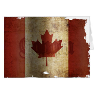 Flag of Canada / Grunge... Card
