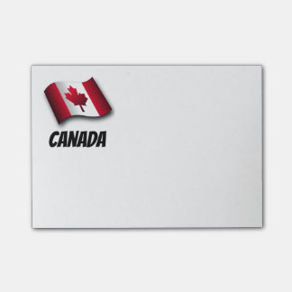 Flag of Canada, labeled Post-it Notes