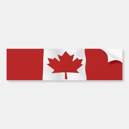 Flag Of Canada  l'Unifolié Bumper Sticker