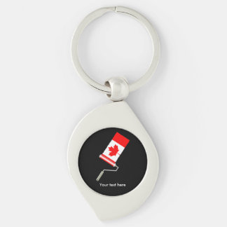 Flag of Canada Paint Roller Keychain