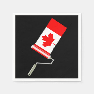 Flag of Canada Paint Roller Paper Napkin