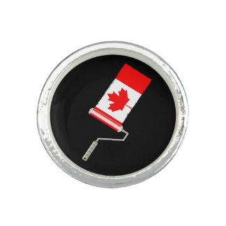 Flag of Canada Paint Roller Ring