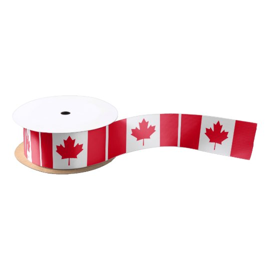Flag of Canada Satin Ribbon