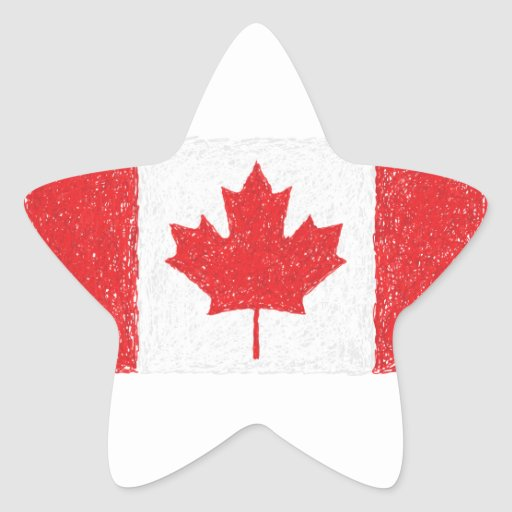 flag of canada star stickers