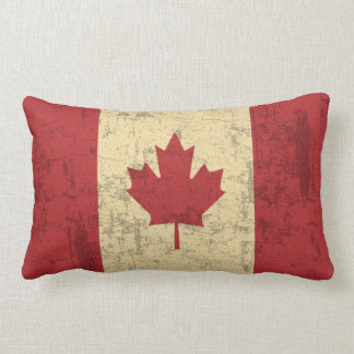 Flag of Canada Vintage Distressed Lumbar Pillow