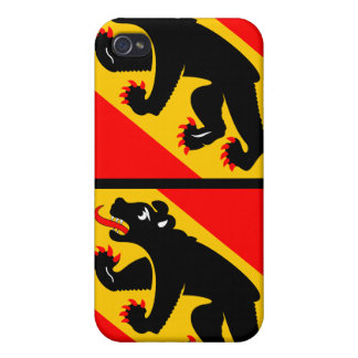 Flag of Canton of Bern- 4 Flag  Cases For iPhone 4