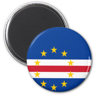 Flag of Cape Verde 2 Inch Round Magnet