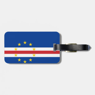 Flag of Cape Verde Luggage Tag w/ leather strap