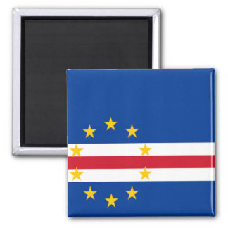 Flag of Cape Verde Square Magnet