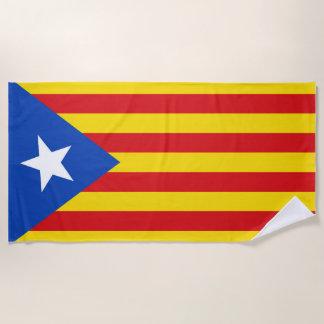 Flag of Catalonia Beach Towel