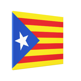 Flag of Catalonia Canvas Print