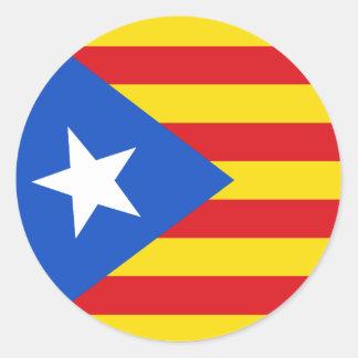 Flag of Catalonia Classic Round Sticker