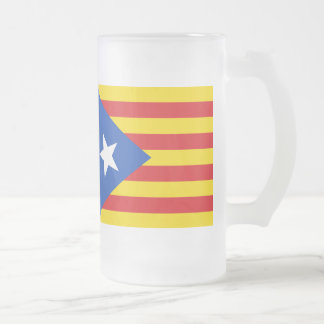 Flag of Catalonia Frosted Glass Beer Mug