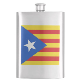 Flag of Catalonia Hip Flask