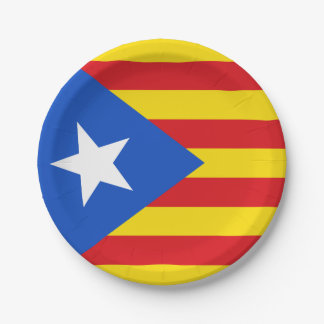 Flag of Catalonia Paper Plate