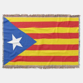 Flag of Catalonia Throw Blanket