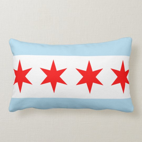 Flag of Chicago American MoJo Pillow
