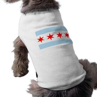 Flag of Chicago Dog t shirt