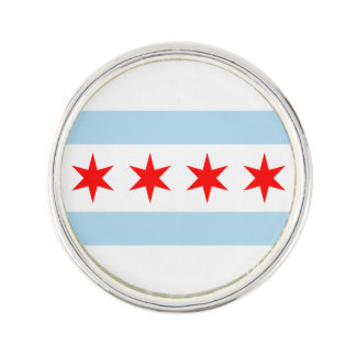 Flag of Chicago, Illinois Lapel Pin