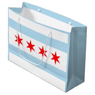 Flag of Chicago, Illinois Large Gift Bag