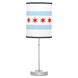 Flag of Chicago, Illinois Table Lamp