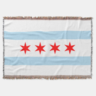 Flag of Chicago, Illinois Throw Blanket