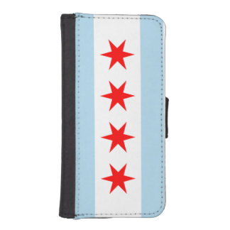 Flag of Chicago iPhone SE/5/5s Wallet Case