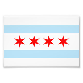 Flag of Chicago Photo Print
