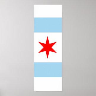 Flag of Chicago Poster Art 1 of 4