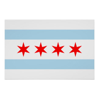 Flag of Chicago Print