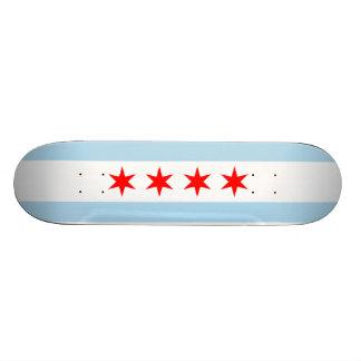 Flag of Chicago Skateboard