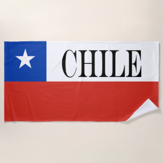 Flag of Chile Beach Towel
