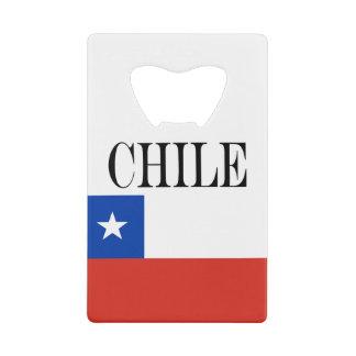 Flag of Chile Credit Card Bottle Opener