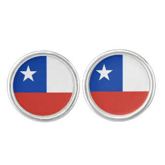 Flag of Chile Cuff Links