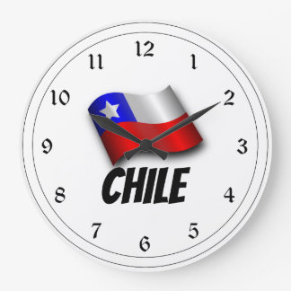 Flag of Chile, Labeled Wall Clock