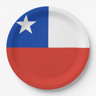 Flag of Chile Paper Plate