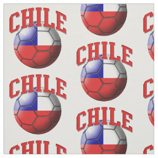 Flag of Chile Soccer Ball Pattern Fabric