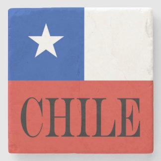 Flag of Chile Stone Coaster