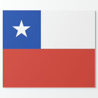 Flag of Chile Wrapping Paper