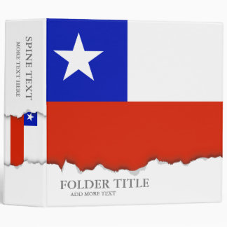 Flag of Chilean Vinyl Binder
