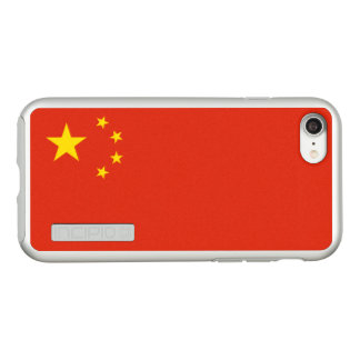 Flag of China Silver iPhone Case