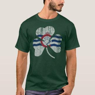 Flag of Cincinnati Flag Shamrock T-Shirt