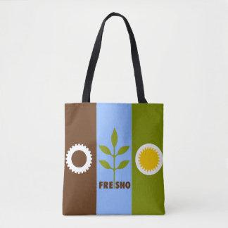 Flag of city of Fresno, California Tote Bag