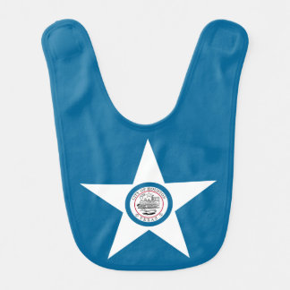 Flag of city of Houston, Texas Bib