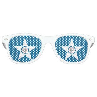 Flag of city of Houston, Texas Retro Sunglasses