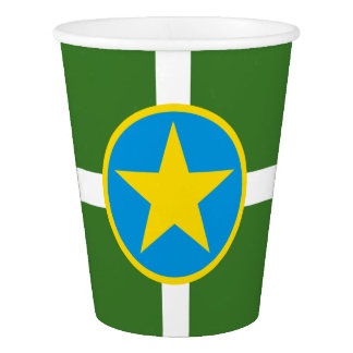 Flag of city of Jackson, Mississippi Paper Cup