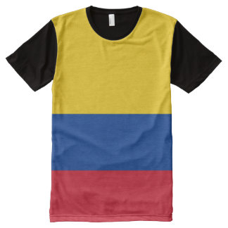 Flag of Colombia - Bandera de Colombia All-Over-Print T-Shirt