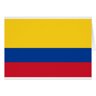 Flag of Colombia - Bandera de Colombia Card